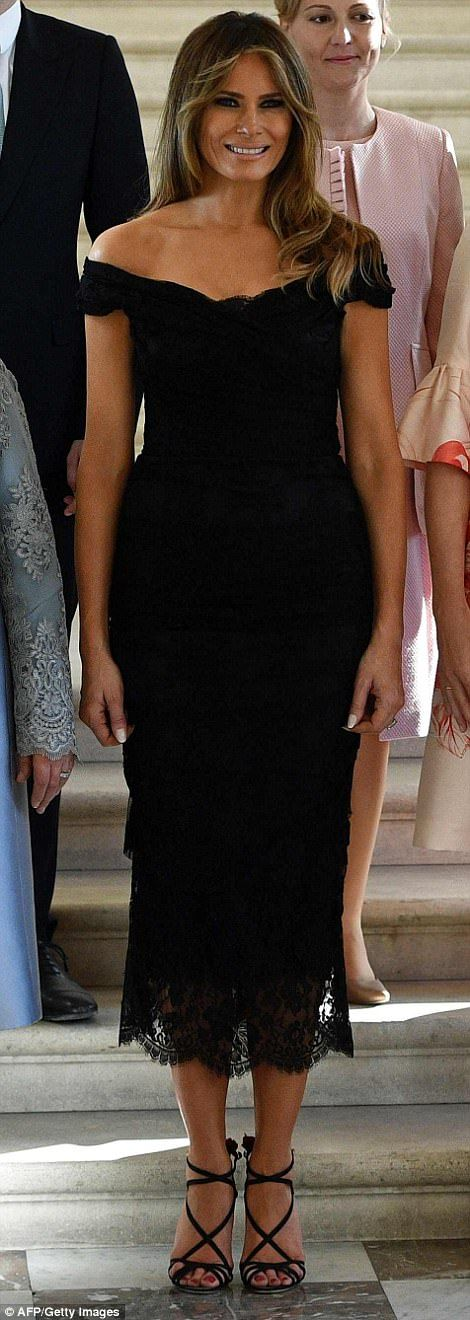 The two first ladies toured the Magritte Museum in Brussels on Thursday while their husbands met for the first time ahead of a NATO summit.