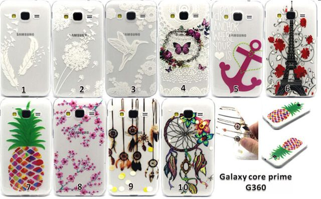 15 patrón pintura caso de TPU suave de silicona Protector de la contraportada búho cajas del teléfono para Samsung Galaxy Core Prime G360 G3606 cubierta
