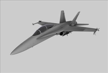 F18 Fighter Plane 3D Model-   Model of an F18 fighter jet. Model includes materials. Very accurate and high quality Available in Cinema 4D (.c4d) and 3D Studio (.3ds) formats Thanks for looking. - #3D_model #Jet,#Other Aircraft,#Military