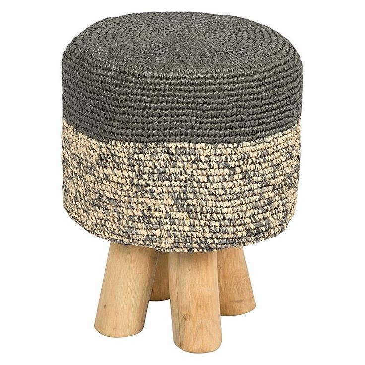 Delight in the textured and resilient woven top of the tribal-inspired Mixaman Raffia Stool from Casa Uno.