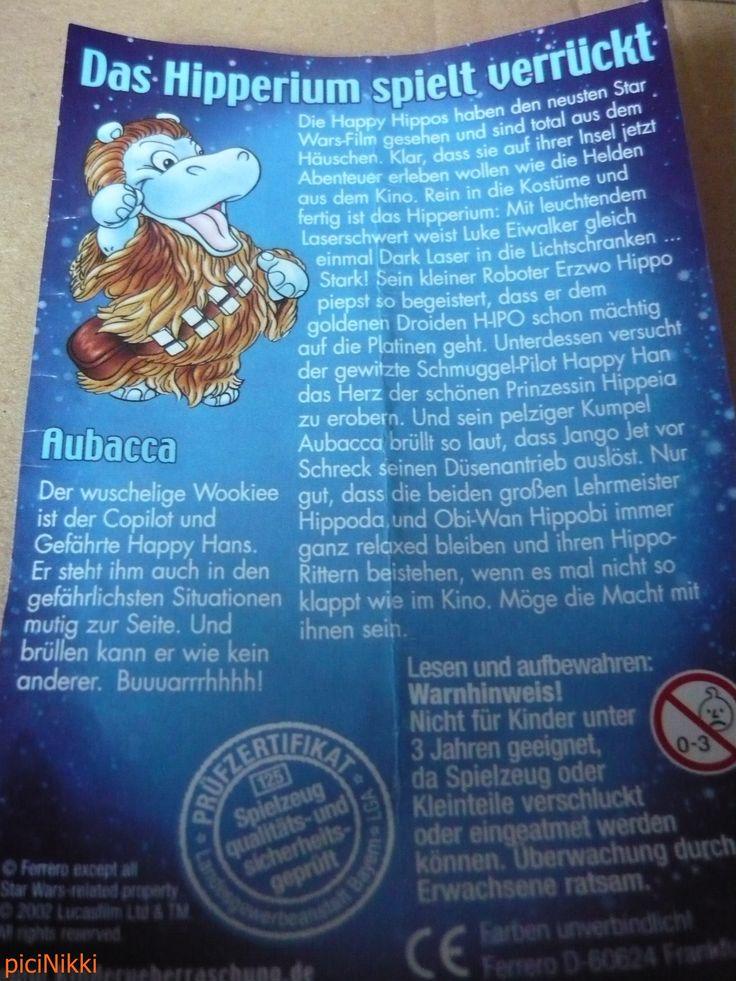 No. 23 | víziló | hippo | Happy Hippo | Kinder | Aubacca | Star Wars