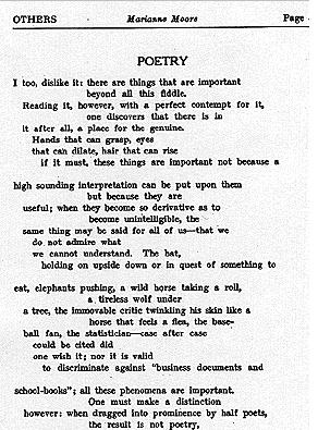 an analysis of the poetry of marianne moore To celebrate national poetry month, the new york review throughout april will   auden was a longtime champion of marianne moore's work.