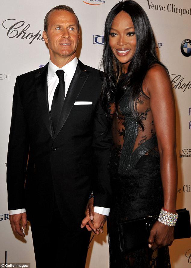 Naomi Campbell with Vladimir