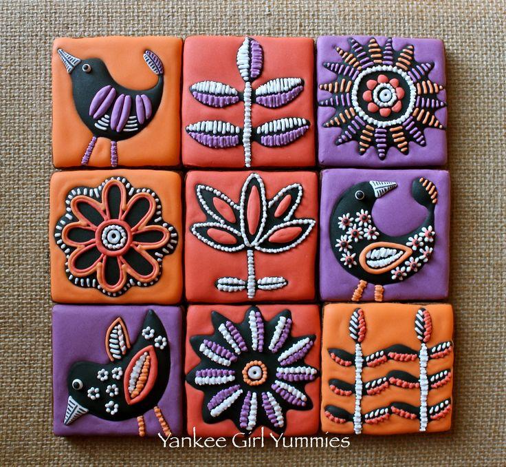 Fall tiles. Cookies by Yankee Girl Yummies