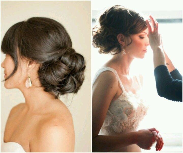 Wedding Hairstyle Low Bun: Buns, Hochzeit And