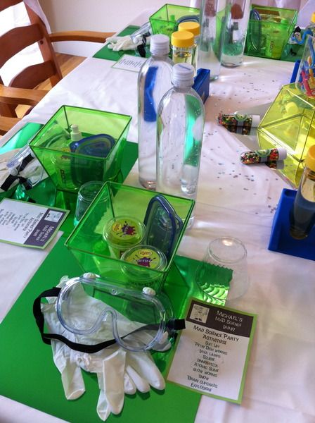 I hope my kid wants a mad scientist birthday party like this one day