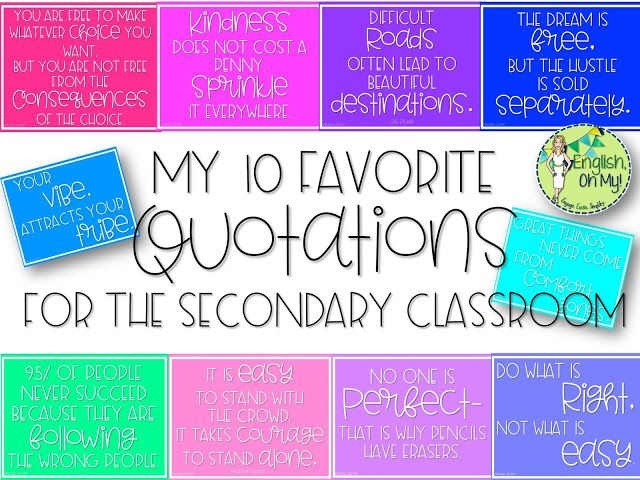 My Favorite Quotations for the Secondary Classroom - English