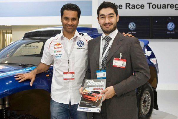 With Nasser Saleh Al-Attiyah (Qatari Rally Driver)
