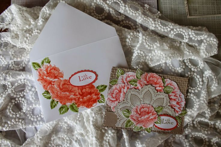 Wendys World of Stampin Up Here: Stipple Blossoms Envelope