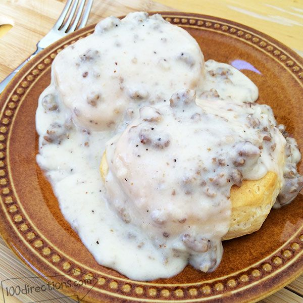 This is THE BEST sausage gravy and biscuits you'll ever eat, and it's all because of the sausage. Jimmy Dean Maple Sausage is like no other, believe me, I've tested!
