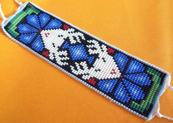 Mexican Huichol Loom Beaded Deer and Peyote Bracelet by Aramara