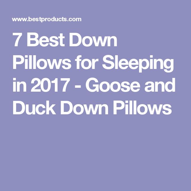 7 Best Down Pillows for Sleeping in 2017 - Goose and Duck Down Pillows