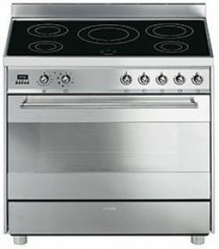 Smeg C9IMX2 fornuis inductie (kookplaat) + elektrisch (oven) C 9IMX2 C 9 IMX 2