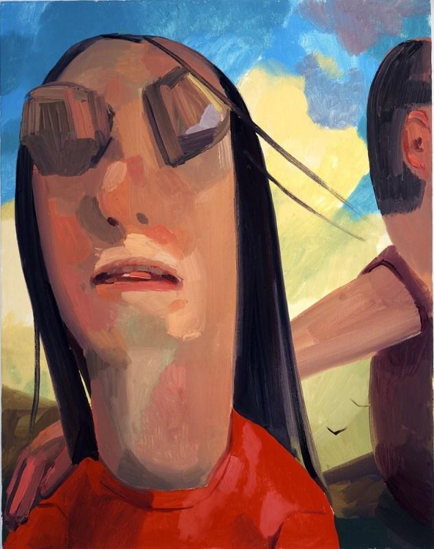 Dana Schutz  Blind, 2004  Oil on canvas   28 x 22 inches  71.1 x 55.9 cm