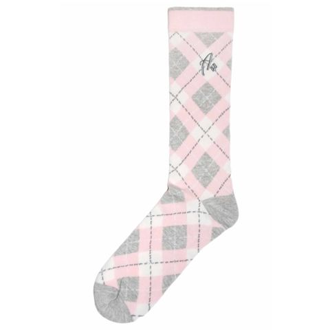 Mens Dress Sock - Argoz Socks - Pink Blue White Argyle