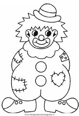 """Színező """"rajz - bohóc képet a gyerekek letöltése és nyomtatása ingyen"""