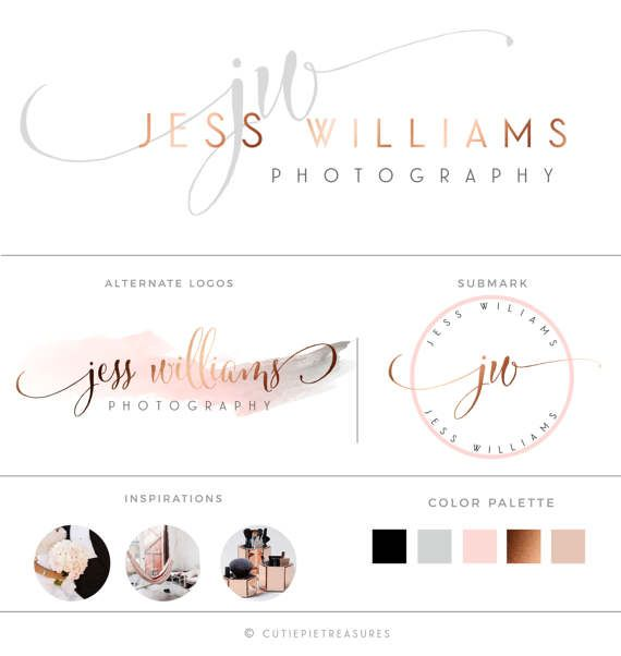 Rose Gold Photography Branding KitCopper by CutiexoTreasures