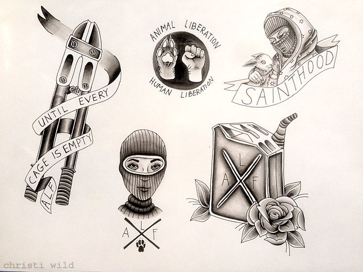 Animal Liberation Front // 2015some designs I put together earlier this year for a bullshit apprenticeship program that I quit bc of harassment :') maybe I'll water color this laterplease do not remove credit