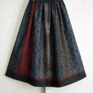 着物リメイク♪6種類の大島紬でゴージャススカート(裏地付き)の画像