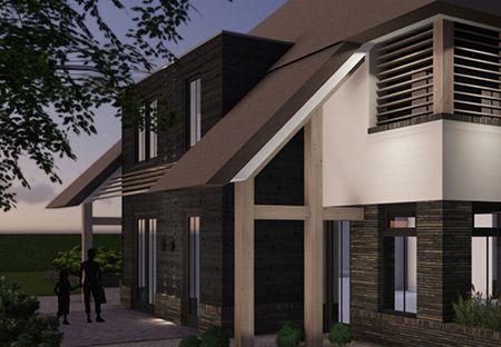 Meer dan 1000 idee n over rustiek huis exterieur op pinterest huis exterieurs rustieke huizen - Interieur eigentijds huis architect ...