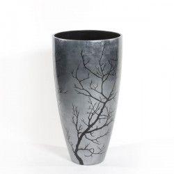 Planters For Life #Planters #For #Life #PFL #Unique #Natural #Materials #Design #Vases #Pots #Bowls #Pillars #Craftsmanship #Senza #Ramo #Vase #Dark #Silver #Leaf #Small