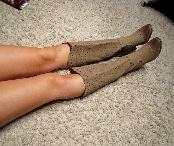 Cowboystiefel damen beige