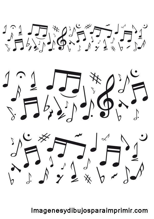 Ms de 25 ideas increbles sobre Notas musicales para imprimir en