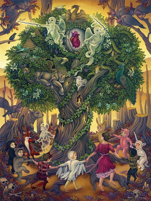 Heather WattsForests, Rabbit Hole, Gallery, Trees Of Life, Illustration, Children, Heather Watts, Artists Heather, Tree Of Life
