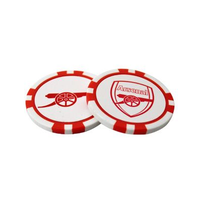 ARSENAL Poker Chip Golf Ball Markers. Official Licensed golf ball markers. FREE DELIVERY ON ALL OF OUR GIFTS