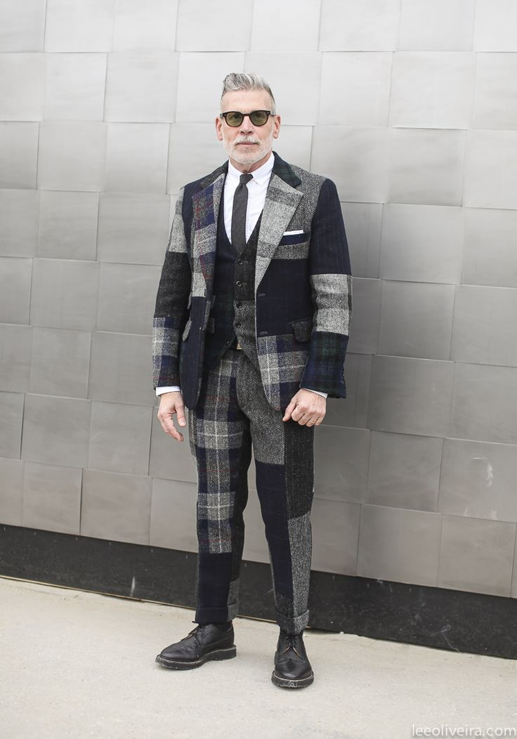 Nick Wooster in the fly patchwork suit. This guy... via leeoliveira.com