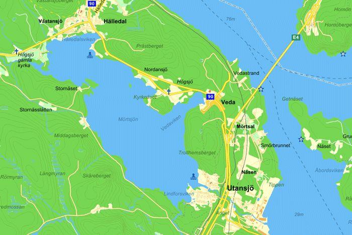 Karta över Högsjö, Västernorrlands län, Härnösands kommun