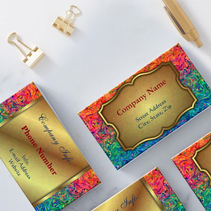Mechanic / Machine Gold Business Card   Business cards and Business