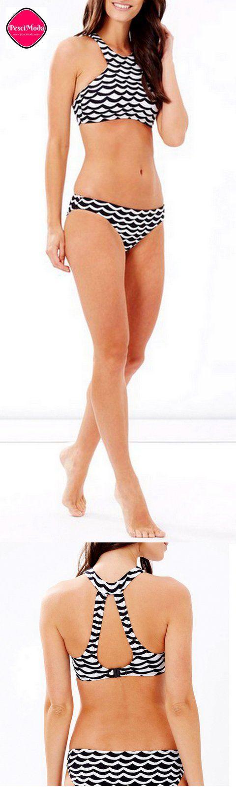 New Hot Wave Pattern Bikini Set. Get Additional 10% Off your First order at www.pescimoda.com #Swim, #Bathing #Swimwear #Bikinis #BikiniBody #Swimsuit #Fashion #FashionStyles #Woman'sFashion #BikinisForTeens #Bikinis2016 #SummerOutfits #SummerOutfitsWomen #SummerFashion #TwoPieceSwimwear #TwoPieceSwimsuits #TwoPieceSwimsuitsForTeens #TwoPieceSwimsuitForCurves