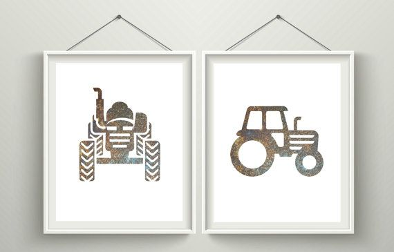 Tractor printable art / Tractor nursery by HeartOfLifeDesign