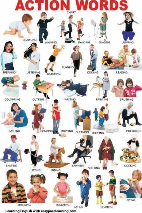 Action verbs learning action words grammar | Learning Basic English, to Advanced Over 700 On-Line Lessons and Exercises Free | Scoop.it