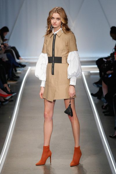 Baylee Soles walks the runway at the Who What Wear Runway Show at Skylight Modern on February 8, 2017 in New York City.