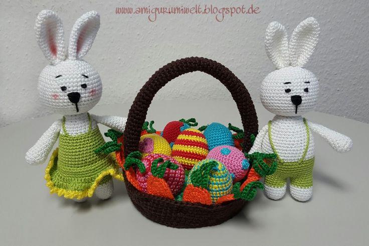amigurumi, crochet, bunny, bunnies, easter, ostern, hase, häschen, häkeln, kostenlos