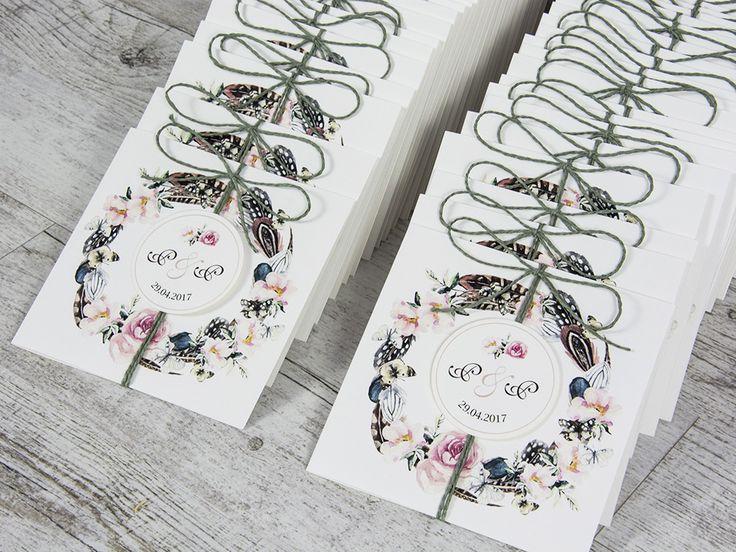 Boho wedding invitations Zaproszenia ślubne boho