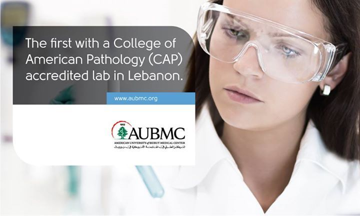 #AUBMC is the first medical center in #Lebanon to gain the College of American Pathology (CAP) accreditation, which fosters #excellence in the practice of pathology and laboratory medicine to positively impact patient care.