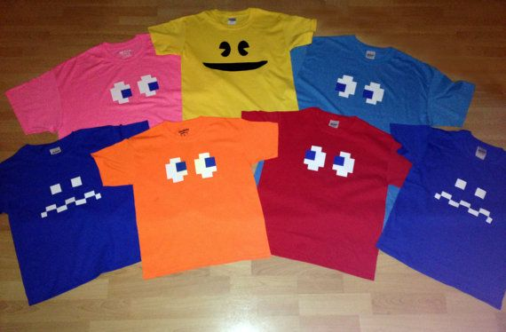 CUSTOM Listing for Achsa 5 Ms. PACMAN/GHOSTS by SugarKaneDesign
