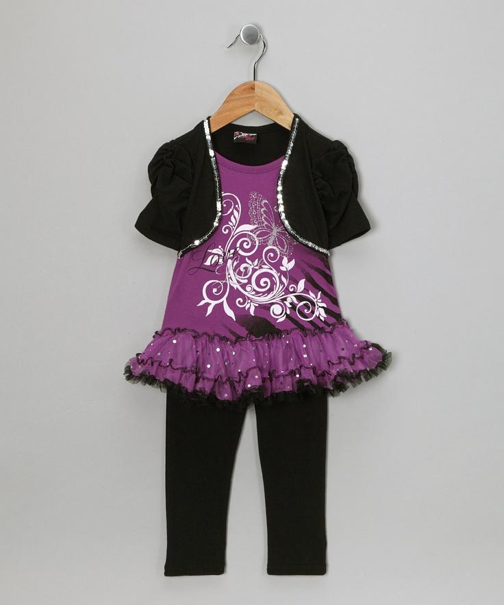 Purple Love Skirted Top Amp Leggings Infant Amp Toddler