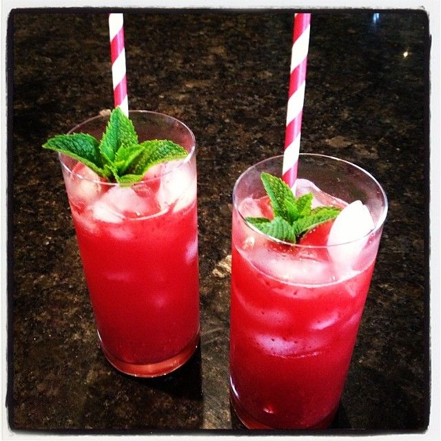 Summer spritzer; Passionberry mixed with lemonade.