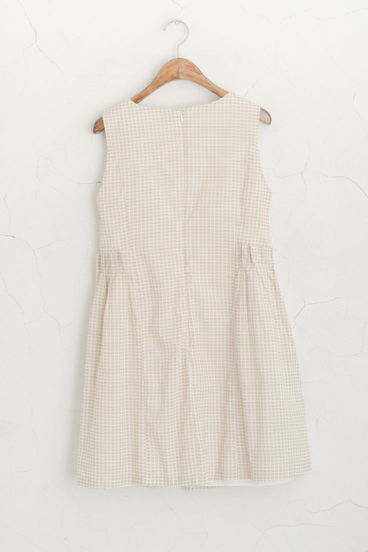Olive - Square Pattern Sleeveless Dress, Beige, £58.00 (http://www.oliveclothing.com/p-oliveunique-p-20150206-062-beige-square-pattern-sleeveless-dress-beige)