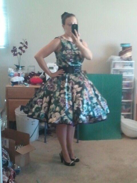 Retro Dress Belt Petticoat Floral Petticoats Polka Dots