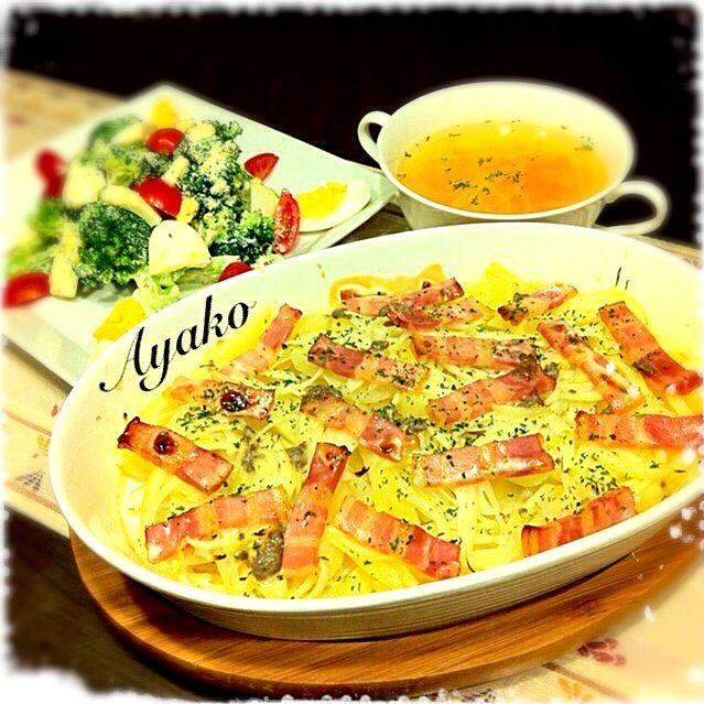 ヤンソンさんの誘惑は、スウェーデンの家庭料理です。ヤンソンさんは、スウェーデンで最も有名な名前で、日本で言えば鈴木さん。 ホクホクしたジャガイモと塩味の効いたアンチョビ、まろやかな生クリームの取り合わせが絶妙 - 243件のもぐもぐ - ヤンソンさんの誘惑、ブロッコリーとゆで卵のサラダ、野菜スープ by ayako1015