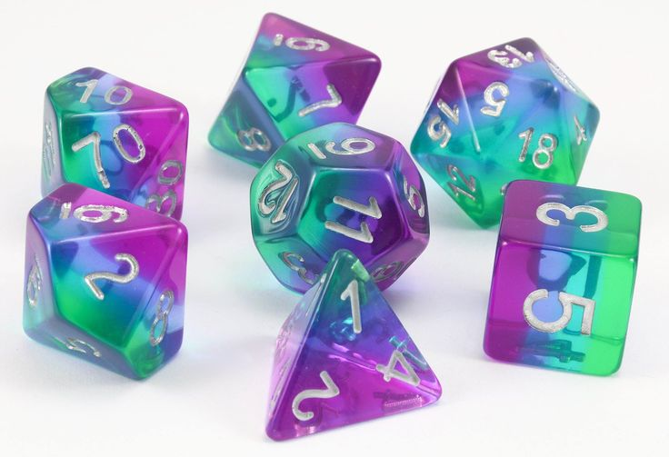 Aurora Dice (Blue) | RPG Role Playing Game Dice Set
