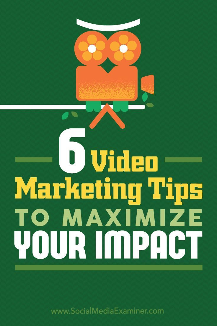 Do you use video content in your social media marketing?  Wondering how to optimize your videos to get more views and engagement?  In this article, youll discover six tips to help you improve the performance of your video content. Via @Social Media Examiner.