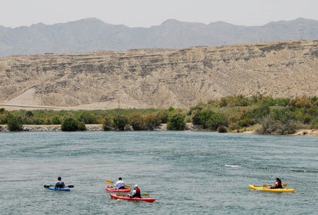 Laughlin NV - Big Bend of the Colorado State Park: picnicking, boat launch, camping, hiking