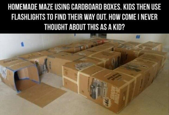Box tunnel maze!! Maybe for a cave party?