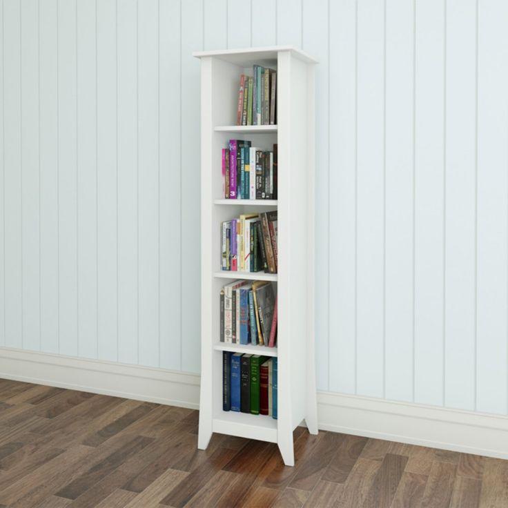 "Nexera Vice Versa 60"" Slim Bookcase - White - 200203"